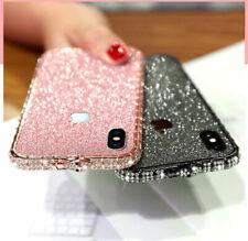 Bling Diamond Metal Bumper Case Glitter Sticker For iPhone X XS Max 7 8 Plus