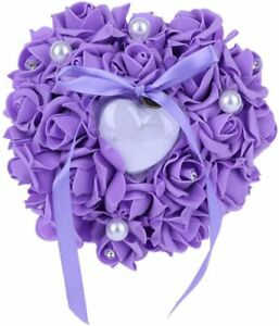 Heart Shape Wedding Ring Rose and Rhinestone Decoration Jewery Case with Bowknot