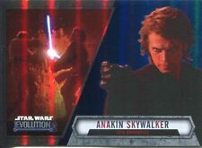 Star Wars Evolution 2016 Blue Parallel Card #6 Anakin Skywalker - Sith Apprent
