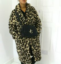 AnotherEight Fluffy Leopard Print Teddy Oversized Blogger Chic Coat Pockets 12
