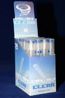 CLEAR/UNFLAVORED CYCLONES Box of 24 packs/48 PreRolled KLEAR Tube Cones