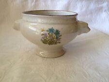Bol Tête de Lion en Grès (Soupe à l'Oignon, ...) Décor Fleurs Vintage Années 80