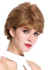 PERRUQUE pour femme court ondulé ondulés dense Raie blond Châtaigne Blond Mix