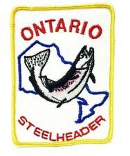 Ontario Steelheader Rainbow Trout Fishing Club Vintage Patch Badge Canada