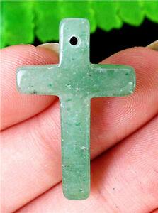 31x19x4mm Natural Green Aventurine Cross Pendant Bead AP24209