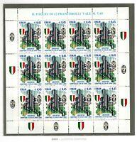 2004 REPUBBLICA JUVENTUS CAMPIONE D'ITALIA MINIFOGLIO INTERO 12 VALORI G.I.**
