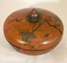 New listing Japanese Cloisonne Enamel Lidded Bowl Attr Takeuchi