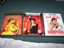 Drunken Master, Kiss of the Dragon & Crouching Tiger Hidden Dragon DVD/Movies