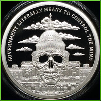2019 2oz Government Mind Control Proof Silver Shield Monumental Truth #7