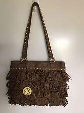 CHIOCCIOLA BoHo Hippie Suede Leather FRINGE STUDDED Purse Handbag Satchel