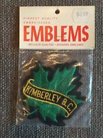 "New Vtg Kimberley BC Embroidered Sew On Patch 3 3/4"" British Columbia Canada NOS"