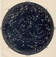 A4 Reprint of Old Maps Vintageed The Night Sky Major Constellations