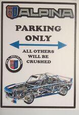 "BMW 'ALPINA' Batmobile' Parking Only Sticker(3.5"" X 2.5"" Approx) BMW E9"