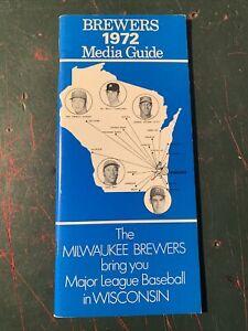 1972 Milwaukee Brewers Baseball media guide Schedule original