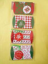 lot 8 pochettes berlingot boite carton 9x7,5 cm noel vert rou ... cadeaux NEUF