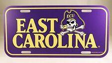 East Carolina Pirates Plastic License Plate