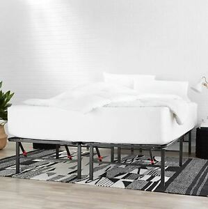 """Amazon Basics Foldable, 14"""" Metal Platform Bed Frame with Tool-Free Assembly, No"""