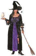 XXL Hexenkostüm schwarz-lila NEU - Damen Karneval Fasching Verkleidung Kostüm