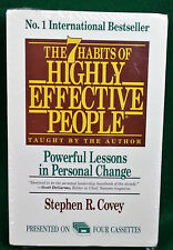 7 HABITS OF HIGHLY EFFECTIVE PEOPLE Audio Book 4 Cassettes Stephen R Covey 1989