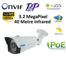 HD 1080P ONVIF IP 3.2MP Network CCTV Security Camera P2P POE 40m IR Night Vision