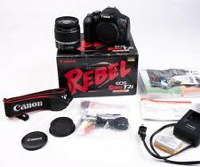 Canon EOS Rebel T2i EOS 550D Set 18MP DSLR Black Kit EF-S IS 18-55mm Lens <11k