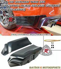 JDM-Style Rear Aero Splash Guards Aprons (ABS) Fits 15-18 Subaru WRX STi 4dr