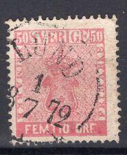 SWEDEN 1858/61 STAMP Sc. # 12 USED
