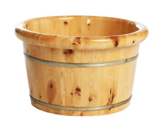 Foot basin wooden bucket foot bath tub double thickness healthy natural 足浴桶加厚