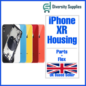For Apple iPhone XR Housing Metal Frame Glass Back Chassis Cover With Parts UK