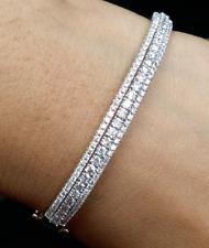 Deal ! 2.00 CT Natural Diamond Tennis Bangle Bracelet in 14K Gold