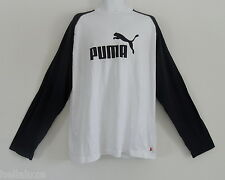 NWT~Puma LONG SLEEVE RAGLAN T-Shirt Graphic Logo CLASSIC Archive Top~Mens sz 2XL