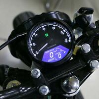 Universal 12000RMP LCD numérique Compteur de vitesse Odomètre Tachymètre Touring