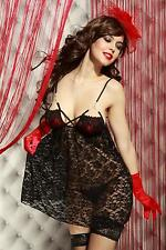 NEUF NUISETTE + STRING SEXY TENUE SENSUELLE LINGERIE TAILLE S/M (36-38) EROTIQUE