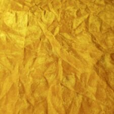"YELLOW GOLD CANARY CRUSHED VELVET FABRIC | UPHOLSERY VELVET 60"" by the yard"
