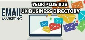 750k UK Business Directory Mailing Email Database List Marketing