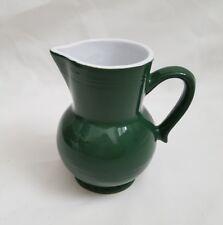 REDUCED ❀ڿڰۣ❀ EMILE HENRY Ceramic Stoneware RUSTIC Dark CHRISTMAS Green JUG ❀