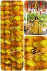 One Marigold Garland Flower Strings Mehndi Diwali Wedding Floral Home Decoration