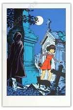 Affiche Sérigraphie Leloup Yoko Tsuno La Frontière de la vie 20ex signé 40x60