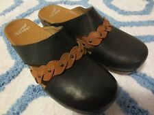 NEW Dansko Sherise Comfort Leather Clog Mule Black/Brown Sz 40 EU/ 9.5-10 US