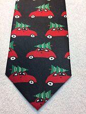 TIES IN DISGUISE MENS TIE 4 X 58 CHRISTMAS TREES ON CARS NWOT