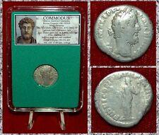 Ancient Roman Empire Coin Of COMMODUS Fides On Reverse Silver Denarius