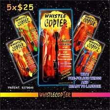 Whistle COPTER 5-pk ready for launch in clear Blister Pack for only $25 !