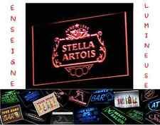 RARE PANNEAU PUB BIERE STELLA ARTOIS LED ENSEIGNE BAR CAFE LUMINEUSE NEON LAMPE