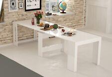 Tavolo Consolle Bianco Laccato allungo fino a 3mt , prolunghe INCORPORATE