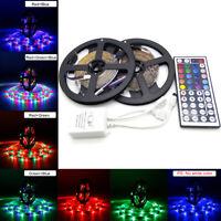 32.8FT/10M 3528 RGB Flexible Strip 600 SMD LED Light DC12V+ 44 Key IR Controller