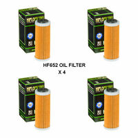 KTM 250 EXCF / SIX DAYS FITS 2013 TO 2019 HIFLOFILTRO OIL FILTER  HF652  4 PACK