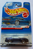 1999 Hotwheels 99 Ford Mustang Purple, Sealed! Mint On Card! Very Rare!!