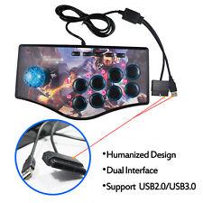 Arcade Fighting Stick Game Machine Joystick Gamepad For USB PC PS2 PS3