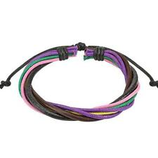 1 Leather Wrist Band with Colourful're Skeins colorway! 190 - 250 mm NEW