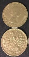 Queen Elizabeth Sixpence Coin Wedding Something Old UK English 6 Pence Free Ship